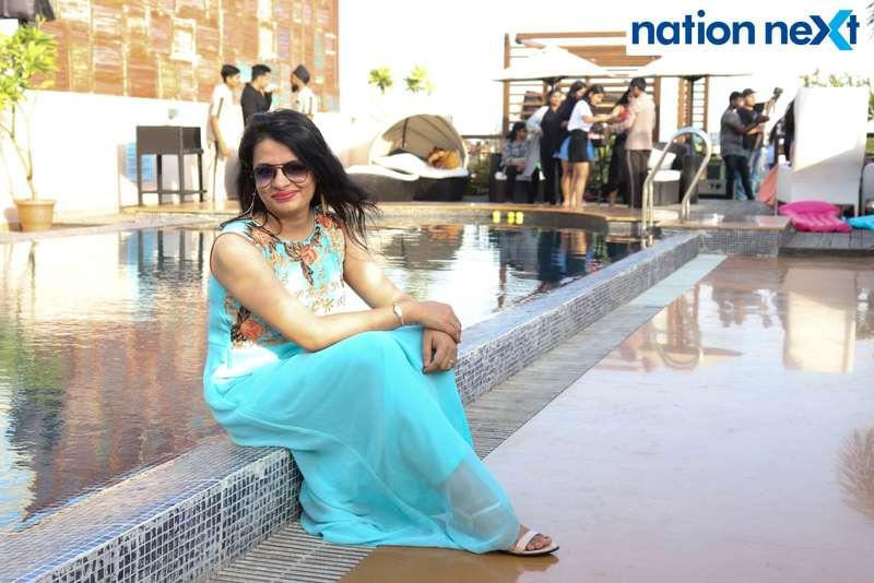 Payal Methai at the Skye Sundowner Pool Party held at Hotel Tuli Imperial in Nagpur