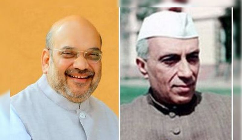 Launching an indirect attack on Jawaharlal Nehru, Union Home Minister Amit Shah held him responsible for 'one-third of J&K' not being in India's control.