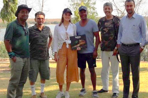 Former West Indies cricketer Brian Lara chose '45 degrees sun in the middle of India' during his two-day break and visited Tadoba-Andhari Tiger Reserve.