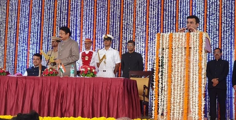 BJP MLC from Bhadrara-Gondia constituency Dr Parinay Fuke from Nagpur took oath as Minister of State today afternoon in Mumbai.