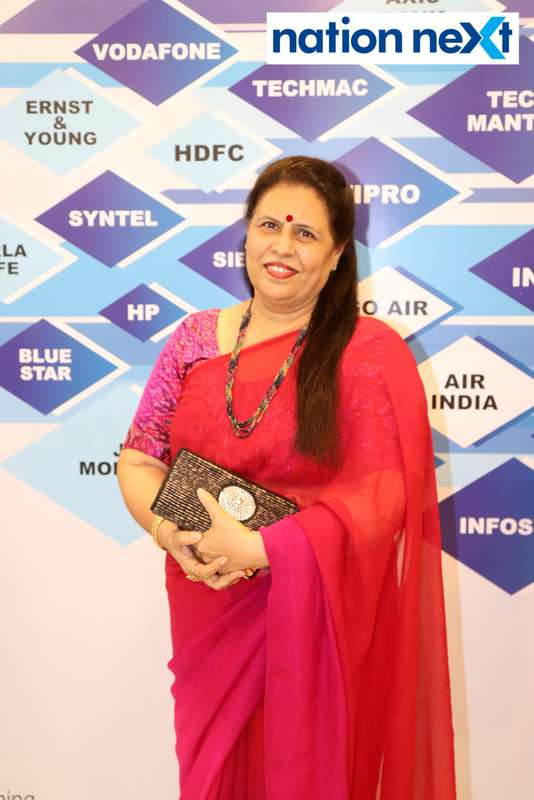 Madhubala Singh at the fashion show organised by Aptech Aviation Academy in Nagpur