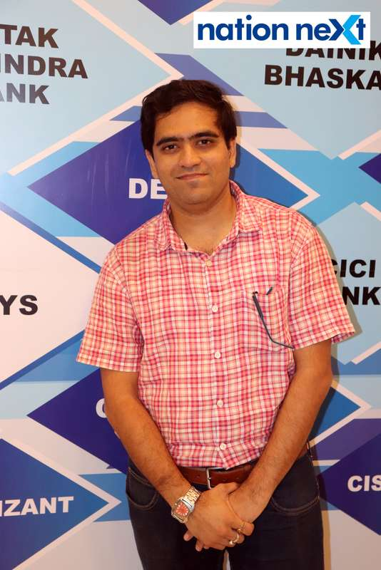 Aniket at the fashion show organised by Aptech Aviation Academy in Nagpur