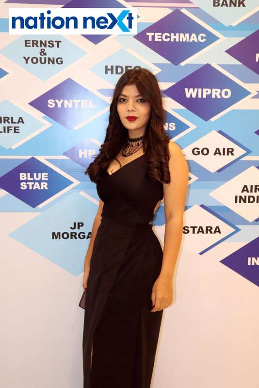 Himani Pekde at the fashion show organised by Aptech Aviation Academy in Nagpur