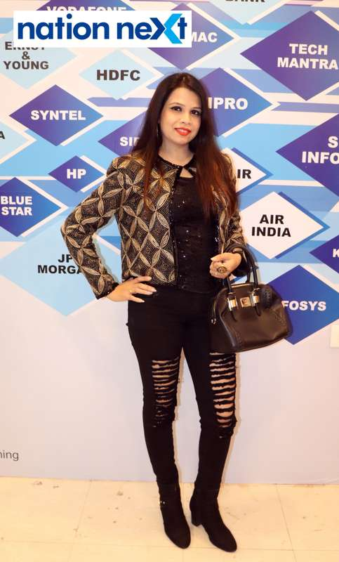 Madhumita Gubre at the fashion show organised by Aptech Aviation Academy in Nagpur