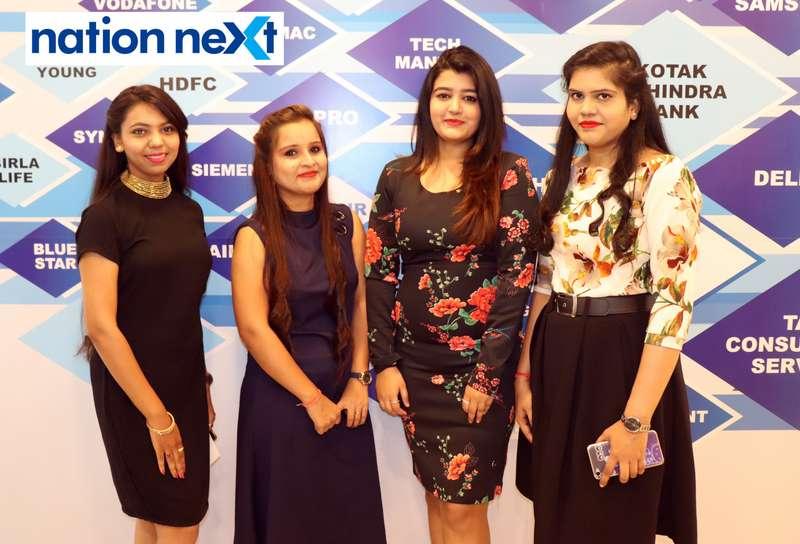 Nidhi Bhalerao, Priti Tiwari, Priyanka Dhanvijay and Kalyani Tiwari at the fashion show organised by Aptech Aviation Academy in Nagpur