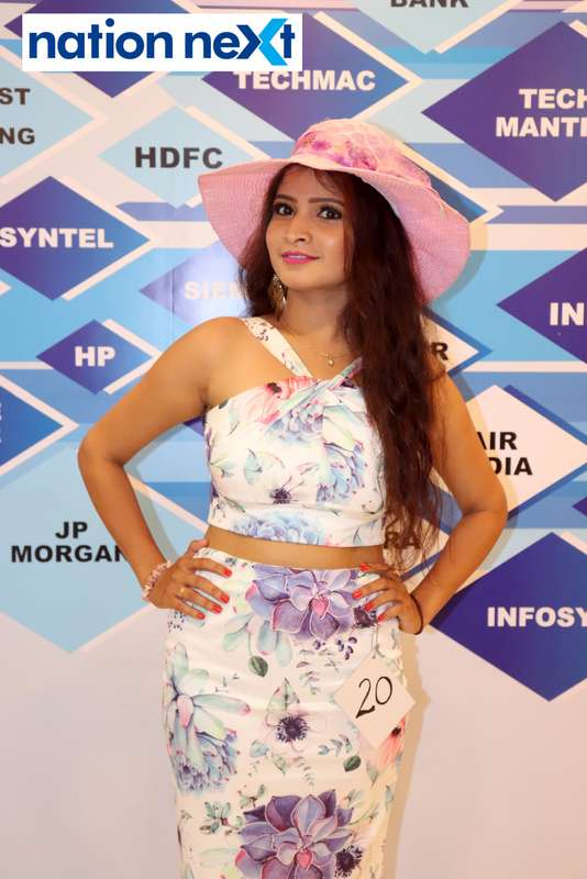 Pranali Kadam at the fashion show organised by Aptech Aviation Academy in Nagpur