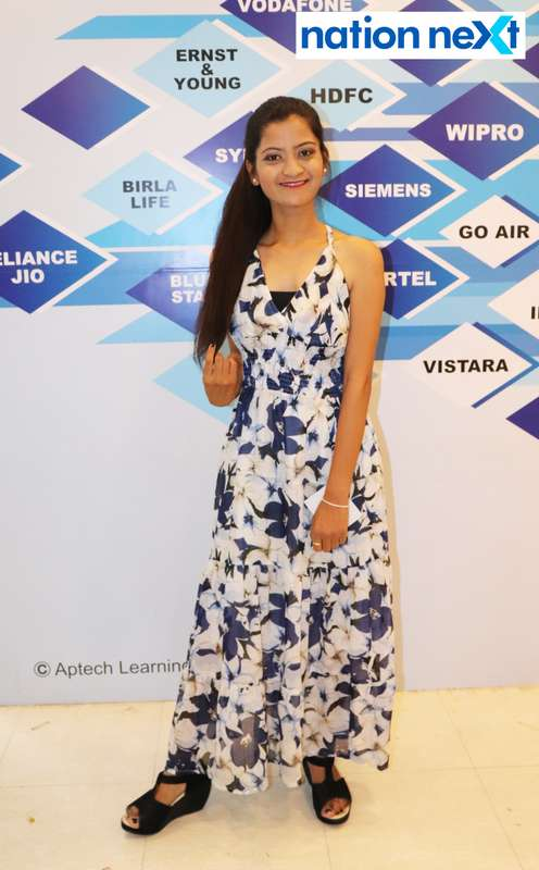 Pranjali Mokasare at the fashion show organised by Aptech Aviation Academy in Nagpur