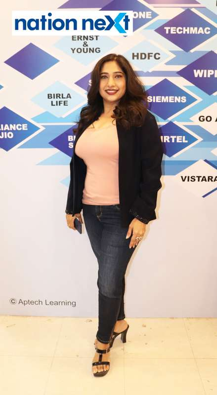 Shikha Khare at the fashion show organised by Aptech Aviation Academy in Nagpur