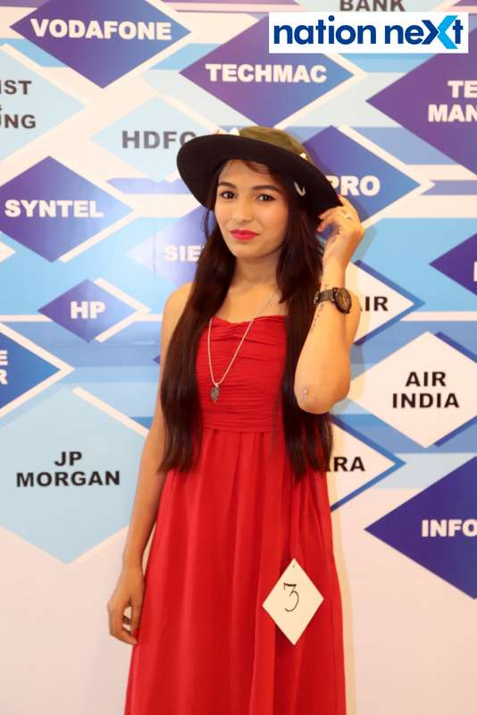 Simran Sheikh at the fashion show organised by Aptech Aviation Academy in Nagpur