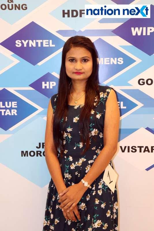 Yogeshwari Nandanwar at the fashion show organised by Aptech Aviation Academy in Nagpur