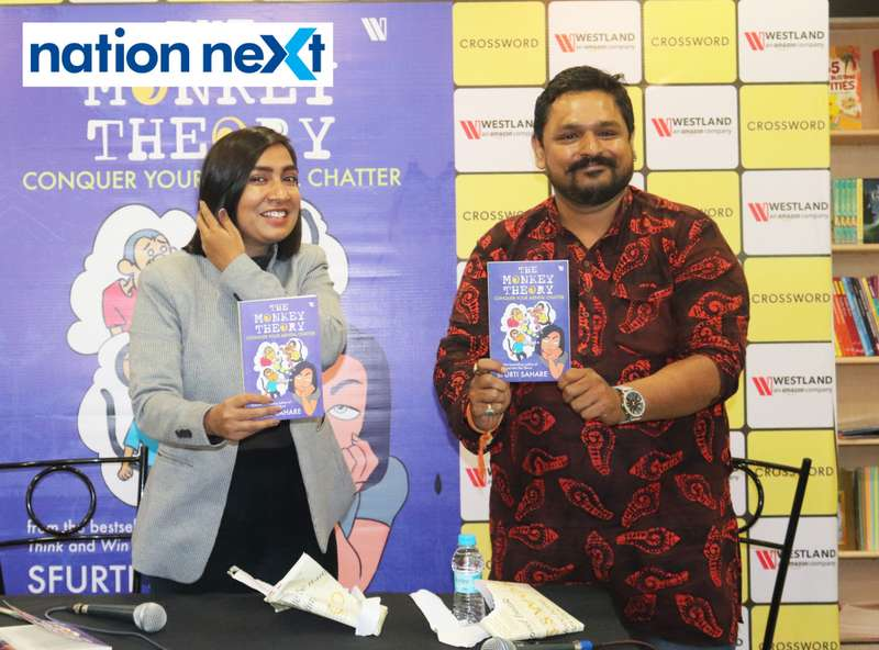 Author Sfurti Sahare explained the importance of a stable mind as she launched her second book - The Monkey Theory - at Crossword in Nagpur on July 20.