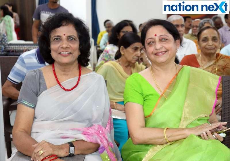 Sheela Kulkarni and Varsha Manohar (President, Women's Home Trust) during the musical evening 'Jeena Isi Ka Naam Hain' organised at old age home 'Soham' in Nagpur