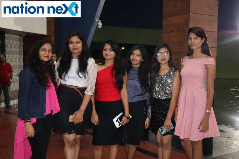 Anagha Ninawe, Surbhi Agrawal, Nisha Bobade, Tejaswini Lohakare, Shweta Bagade and Pragati Chaudhary during Cadence Academy's 'Ramp Inferno 2019' held at Suresh Bhat Auditorium in Nagpur