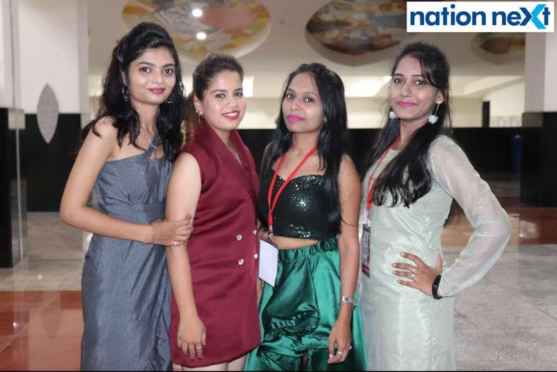 Prajakta Kathwate, Kanchan Maheshwari, Sayali Bhaley and Shaifali Sahu during Cadence Academy's 'Ramp Inferno 2019' held at Suresh Bhat Auditorium in Nagpur