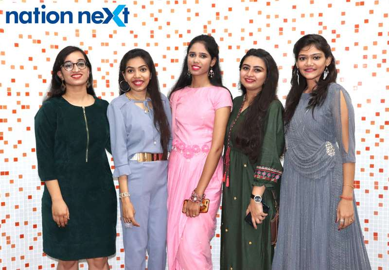 Reshu Jain, Chaitali Agrawal, Minal Agrawal, Zeba Zaveri and Suruchi Agrawal during Cadence Academy's 'Ramp Inferno 2019' held at Suresh Bhat Auditorium in Nagpur
