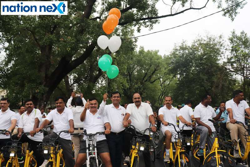 With an intention to spread awareness about traffic rules and fitness, several cops took to cycling during - Cyclotsav - organised by Nagpur Police.