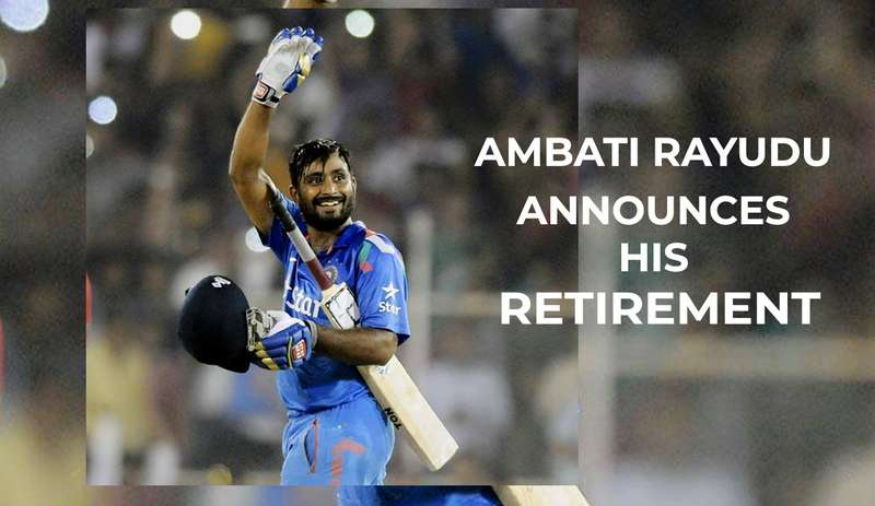 Indian middle-order batsman Ambati Rayudu announced his retirement from all forms of cricket, including the IPL, on Wednesday.