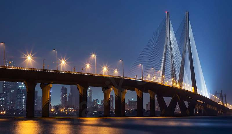Bandra-Worli Sea Link in Mumbai. (Photo Source: Wikimedia Commons/Yatrik Sheth)