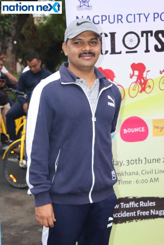 DCP Gajanan Rajmane during 'Cyclotsav' organised by Nagpur Police
