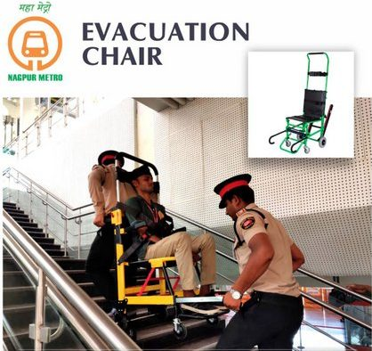 Nagpur Metro launched the facility of 'evacuation chair' for commuters. The chair is a solution for smooth stairway ascent and decent during an emergency.