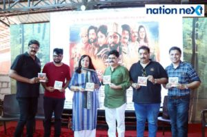 From left: Naresh Bdikar, Rohini Hattangadi, Bharat Ganeshpure and Vishnu Manohar at the music launch of the Marathi film 'Once More' held at Vishnuji Ki Rasoi in Nagpur. (Photo by: Bhavesh Mahalle)