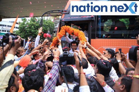 Nagpurians welcomed Aditya Thackeray with open arms today (Tuesday, 27 August) as he rallied in the city during the 'Jan Ashirward Yatra.'