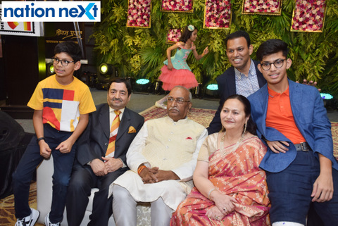 Union minister Nitin Gadkari and Bollywood actor Shekhar Suman graced the book launch of Nagpur industrialist Basant Lall Shaw titled 'Mera Jeevan Pravah.'