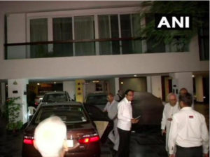 CBI team on Wednesday arrived at the residence of former finance minister and senior Congress leader P Chidambaram in Delhi to arrest him.