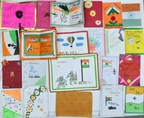 ISRO thanked students of Nagpur schools for wishing them on Independence Day (August 15, 2019) with handmade greeting cards.