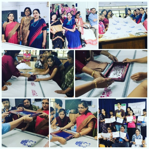 Postgraduate department of LAD College and SVK Shikshan Sanstha jointly organised a 'Tie & Dye' and 'Screen Printing Workshop for disabled students.