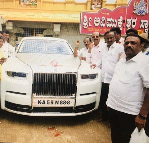 Recently disqualified MLA from Karnataka MTB Nagaraj purchased a posh new car – Rolls Royce Phantom VIII – worth Rs 11 crores.