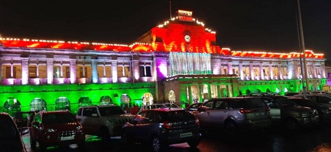 The iconic buildings - Nagpur  railway station and Vidhan Bhavan – were lit up in tricolour to mark the 73rd Independence Day on August 15th in Nagpur.
