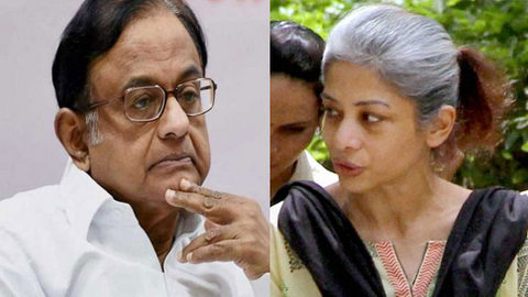 """""""It's good news that P Chidambaram has been arrested,"""" Mukerjea, who's in Mumbai jail with husband Peter, told reporters present in a Mumbai court."""