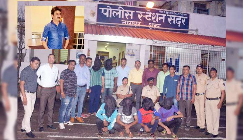 Four men were arrested by Sadar Police on Sunday for murdering Nagpur businessman Rishi Khosla on August 21 near Gondwana Square.