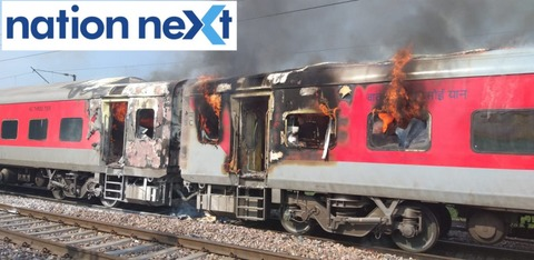A fire broke out in two coaches of Hyderabad-New Delhi Telangana Express (train number 12723) at Asaito station in Haryana.