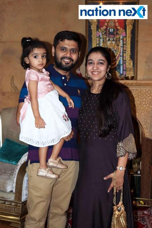 Shreya and Nitin Narke during the Goddess Mahalaxmi Mahaprasad hosted by Munde family in Nagpur