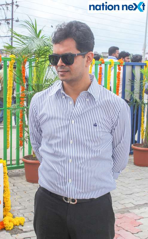 Rohit Agrawal during the inauguration of Nagpur's first LNG and CNG Mother Station