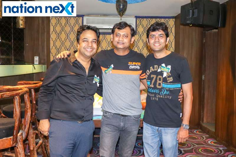 Alok Khemuka, Nikhil Bhartia and Akash Gupta during Bishop Cotton School's reunion party held at Chill N Grill in Nagpur