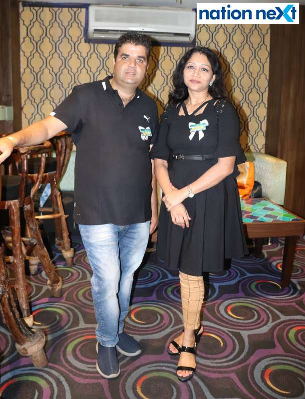Deepak Oberoi and Sony Kolhe during Bishop Cotton School's reunion party held at Chill N Grill in Nagpur