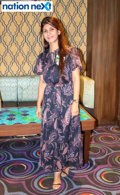 Harpinder Kaur during Bishop Cotton School's reunion party held at Chill N Grill in Nagpur