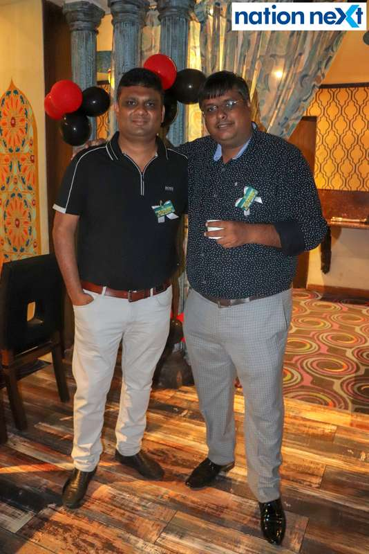 Harsh Bhartia and Paul Swami during Bishop Cotton School's reunion party held at Chill N Grill in Nagpur