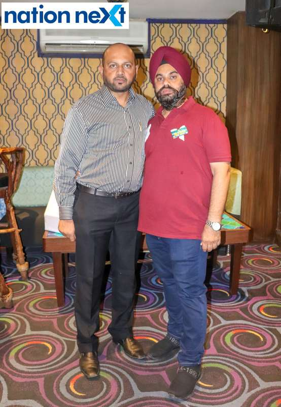 Huned Shirpurwala and Dashpreet Singh Nagra during Bishop Cotton School's reunion party held at Chill N Grill in Nagpur