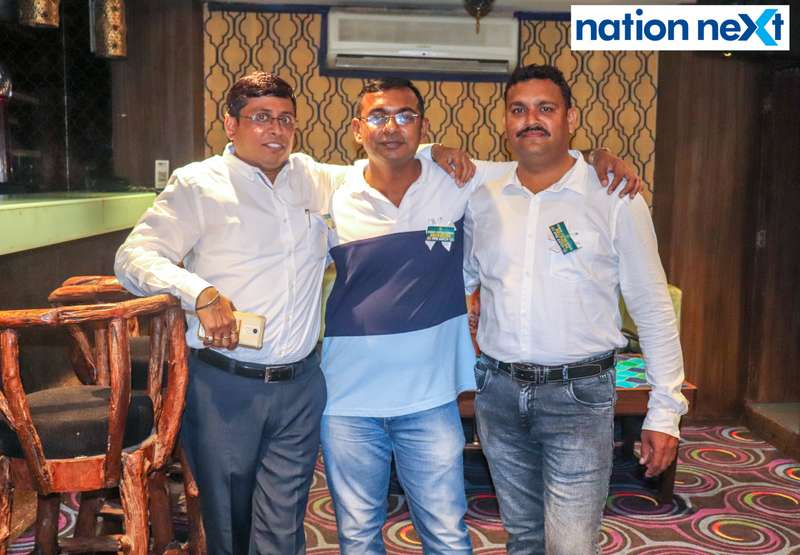 Vishwanath Rathod, Vilas Wahane and Pankaj Chouhan during Bishop Cotton School's reunion party held at Chill N Grill in Nagpur