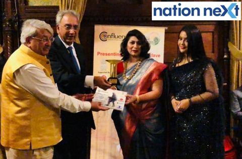 Aruna Purohit received the prestigious 'Excellent Women Entrepreneur' award during international conclave in London on September 27.