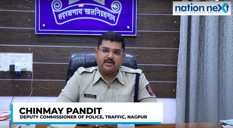 Setting a precedent, Nagpur Traffic DCP Chinmay Pandit fined 52 BJP workers for flouting rules during JP Nadda's rally held in city.