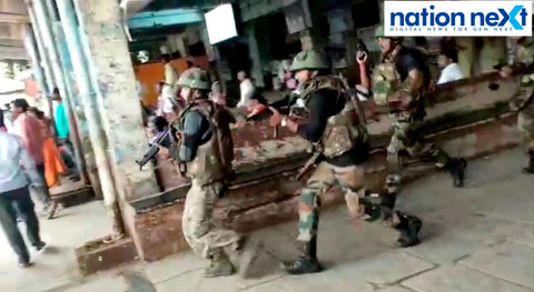 A video of various jawans, in what could be assumed as a mock drill, reportedly at Ahmednagar bus stand, got viral as a terrorist attack in Nagpur.