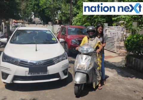 With the model code of conduct coming into effect, Nagpur Mayor Nanda Jichkar surrender her official vehicle on Saturday (September 21, 2019).
