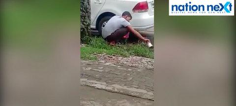 Nagpur: Watch the video of a pani-puri vendor using mud water at Gurudev Nagar at Nandanvan that is going viral on social media.