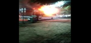 A bus travelling from Pune to Nagpur caught fire near Ramwadi Octroi Naka on Pune-Ahmednagar Highway on Thursday night (September 5, 2019).