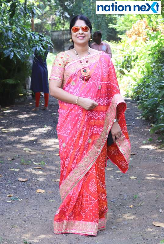 Dr Nandita Sapra during 'Ras Garba' held at LAD college in Nagpur